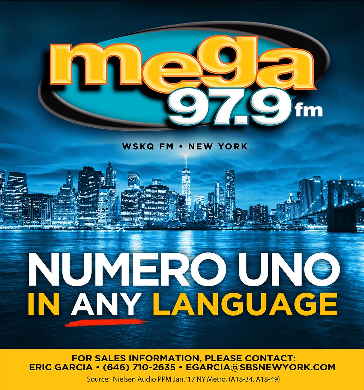 wskq fm mega 97 9fm hispanic station ranks no 1 in new york across